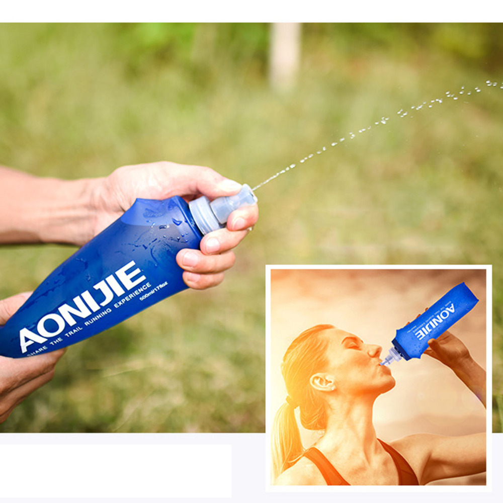 Buy Aonijie 250 500ml Outdoor Water Bottle Bags Soft Flask Sd09 250ml Camping Hiking Nice Sports Cycling Running Hydration New Bag From