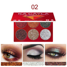 KA CAYLA Eye shadow Makeup  Eyeshadow Palette Cosmetic Set Eye Shadow 6 Colors Makeup Palleter Smoky Eye Shadow    5.2 DJL