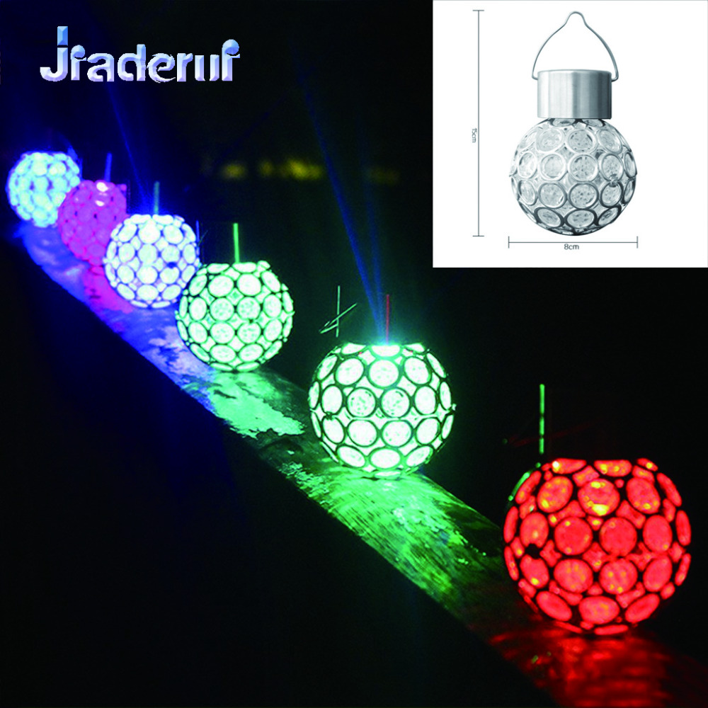 Jiaderui LED Outdoor Colorful Solar Ball Lamp Christmas New Year Garland Decorative Hanging Walkway Night Lights Chandelier
