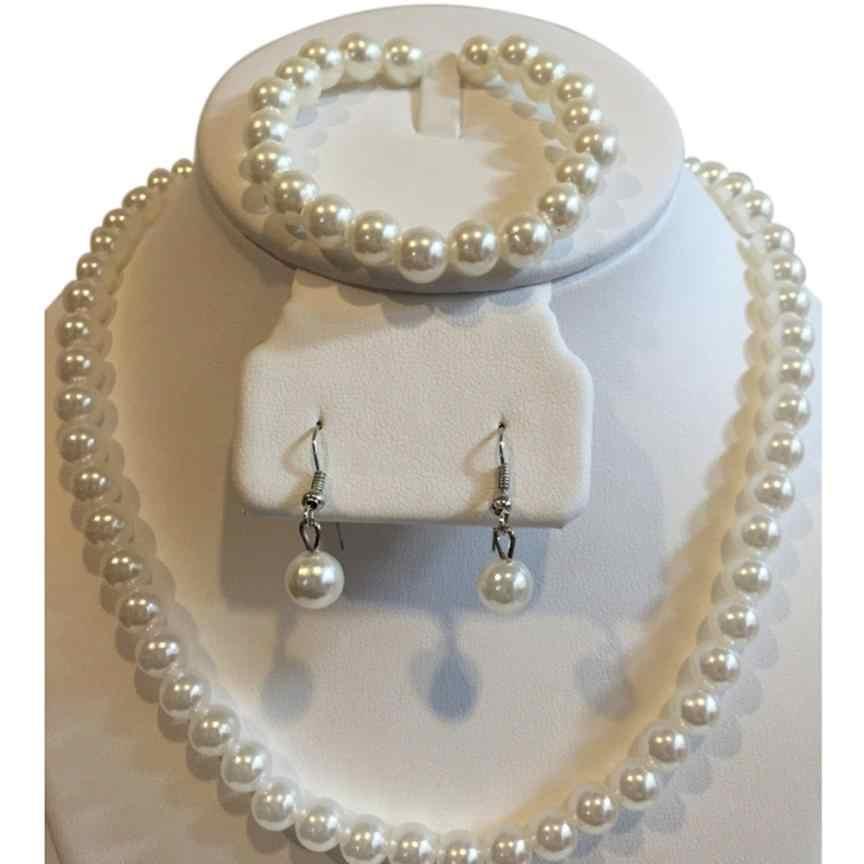 Fancining mujeres collares gargantilla Trinket graduación boda fiesta nupcial joyería collar Bijoux pulsera conjunto Torque collares Aneis