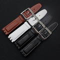 The New! Leather strap for Swatch Swatch YCS YAS YGS Men and women 17mm black white strap  watch accessories
