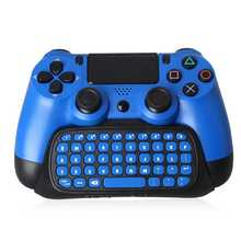 2.4G Bluetooth V3.0 Mini USB Wireless Chatpad Message Keyboard For PS4 PS4Slim Controller Blue