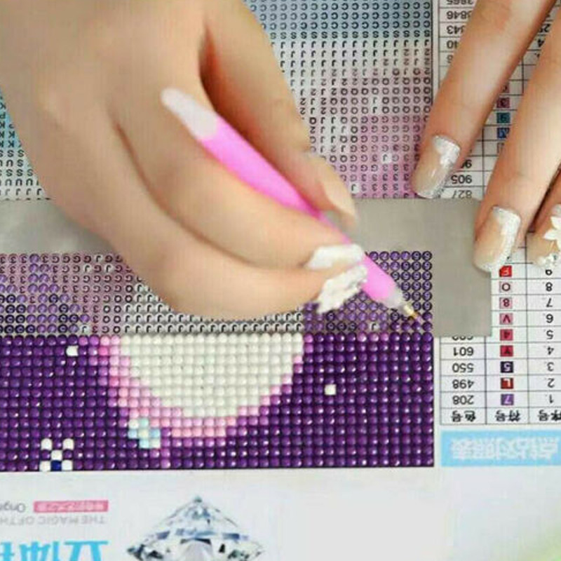 5D Diamond Painting Ruler Stainless Steel Blank Grids Round Full Drill Kit  Dot Drill Diamond Embroidery Tools