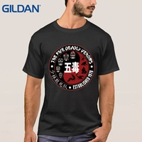 Making T Shirts The 5 Five Deadly Venoms Shaolin Squad Cult Kungfu Movie Us Black Tee