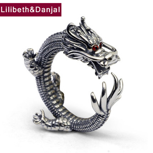 Dragon Ring 100% Real 925 Sterling Silver Fashion Jewelry for Men and Women Thumb Big Finger Wholesale Vintage Thailand GR40(China)