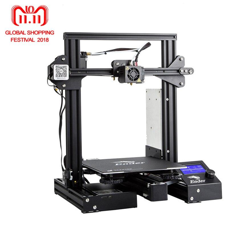 Newest 3D Printe Ender-3 Pro/Ender 3/Ender-3X DIY KIT printer 3D UpgradCmagnet Build Plate Resume Power Failure Printing ender 2 desktop diy 3d printer kit