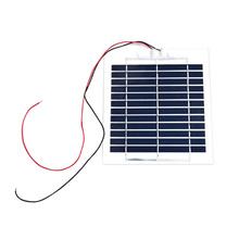 BOGUANG panel słoneczny poly cell elastyczna przezroczystość pet 6V 3W 500m do ładowania użyj zestawy diy zabawki lampka przenośna cienki typ tanie tanio 500mA 185*195MM 12pcs Krzem polikrystaliczny 3 watt or 4 watt 530mA 125g 6 6V