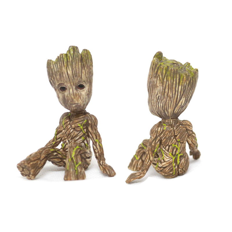 1Pcs Guardians Of The Galaxy 2 Tree Man Baby Sitting Collectible Toy Cartoon Mini Model Action Figure Doll Toys Funny Collection 1 6 figure doll journey to the west monks the monkey king 2 tang monk 12 action figure doll collectible figure toy model