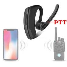 מכשיר קשר אלחוטי אפרכסת מכשיר קשר Bluetooth אוזניות שתי בדרך רדיו אלחוטי אוזניות למוטורולה Baofeng Kenwood HYT