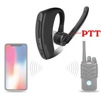 עבור baofeng מכשיר קשר אלחוטי אפרכסת מכשיר קשר אוזניית Bluetooth שתי דרך הרדיו אלחוטי אוזניות עבור מוטורולה Baofeng Kenwood HYT (1)