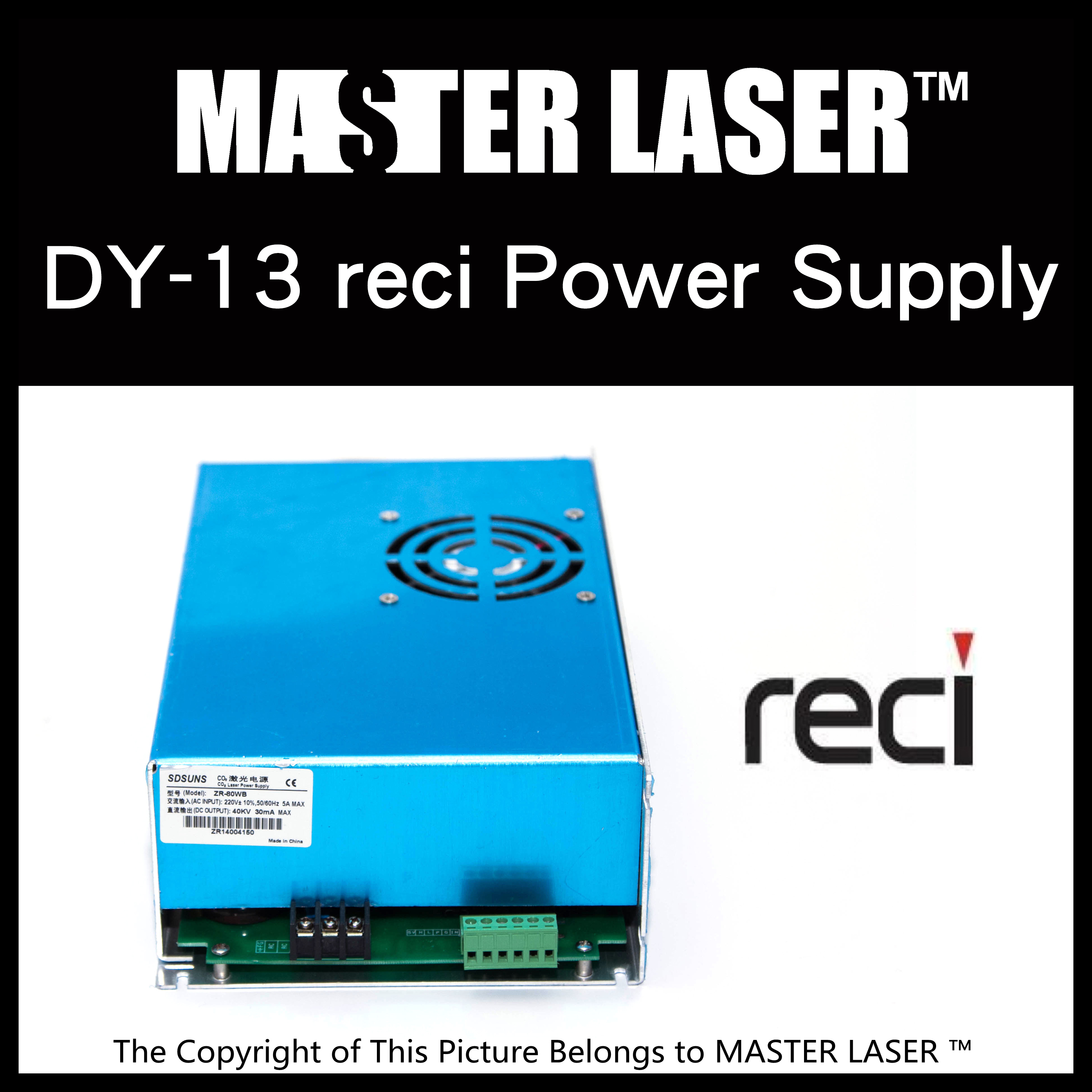 Reci DY13 Laser Power Supply for  100w reci CO2 Laser Tube S4 W4 dy13 co2 laser power supply for reci s4 and z4 co2 laser tube