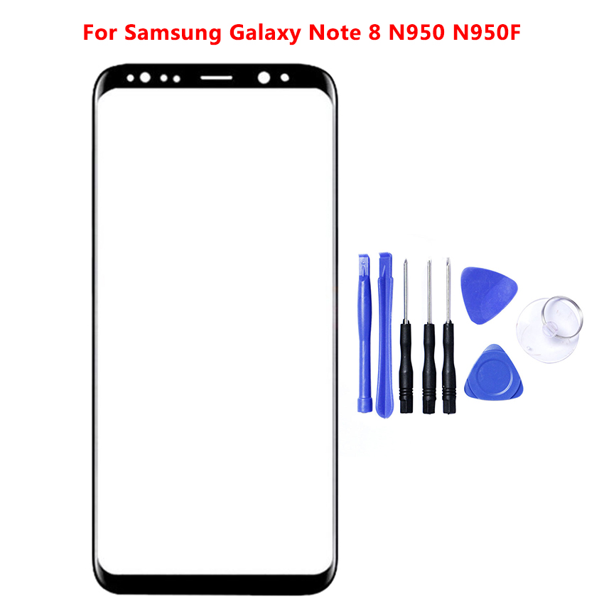 """High Quality 6.3"""" For Samsung Galaxy Note 8 Note8 N950 N950F Front Outer Glass Lens Touch Screen Panel LCD Display Front Glass"""
