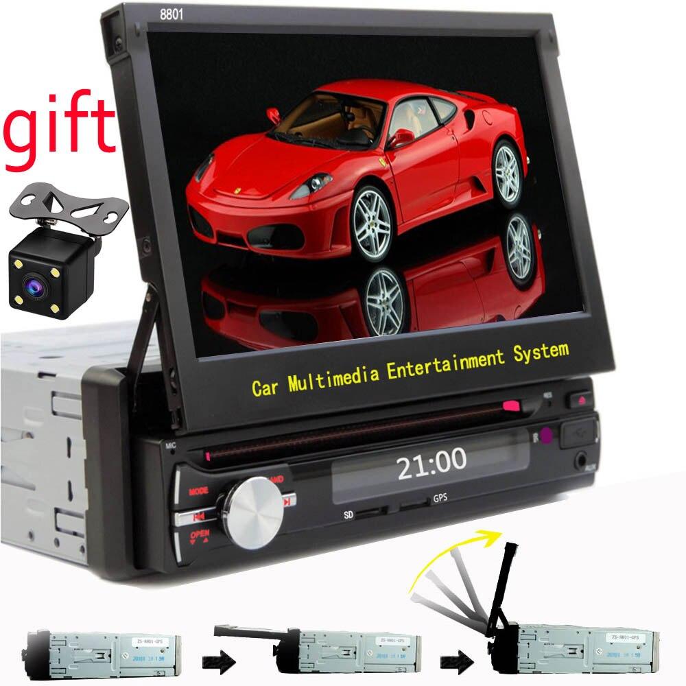 imágenes para 1 din car dvd de navegación gps reproductor de cd/mp3/mp5/usb/sd/Bluetooth estructura Telescópica 1DIN Coche Reproductor Multimedia de pantalla