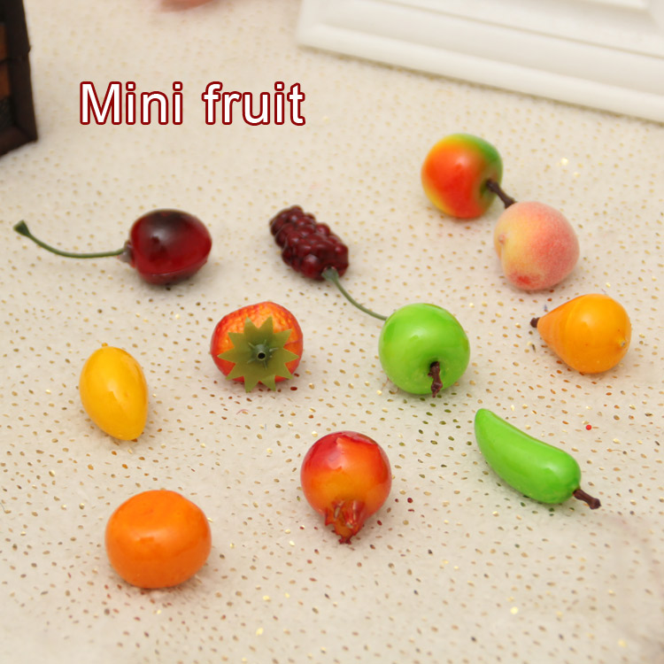 Free shipping 50pcs lot 11 style mini fruit decoration for Artificial pears decoration