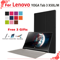 high quality Case for Lenovo yoga tablet 3 X50 Case ,PU Leather Stand Case for Lenovo yoga tab 3 10 Case+free 3 gifts