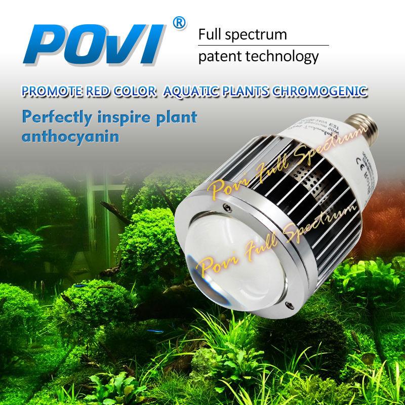 POVI Led akvārija gaisma ūdens augiem 50W30W Alumīnija augstas kvalitātes LED zivju tvertņu apgaismojums