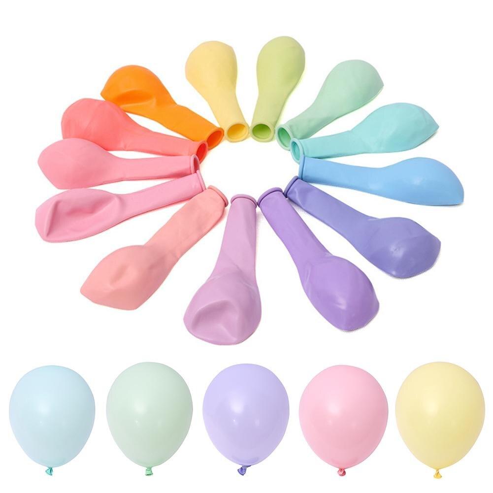 Licorne Partie 100 pcs 10 pouces Macaron Couleur Latex Ballon Décoration De Mariage Bébé Fête D'anniversaire du Jour de Valentine Décor Ballon