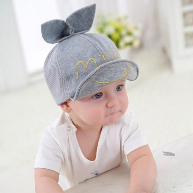 6ef1093033a Kids Cap Newborn Toddler Baby Girl Boy Snapback Baseball Cap Cute Little  Ear Hat