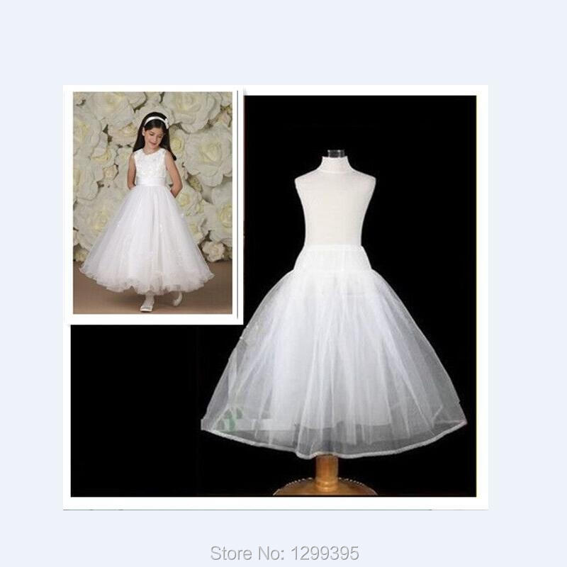 Free shipping high quality no hoop children petticoat for Hoop underskirt for wedding dress