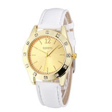 HL 2016 Fashion NEW Women Diamond Analog Leather Quartz Wrist Watch  Gift relogio feminino masculino Uhren relojes Box Z519