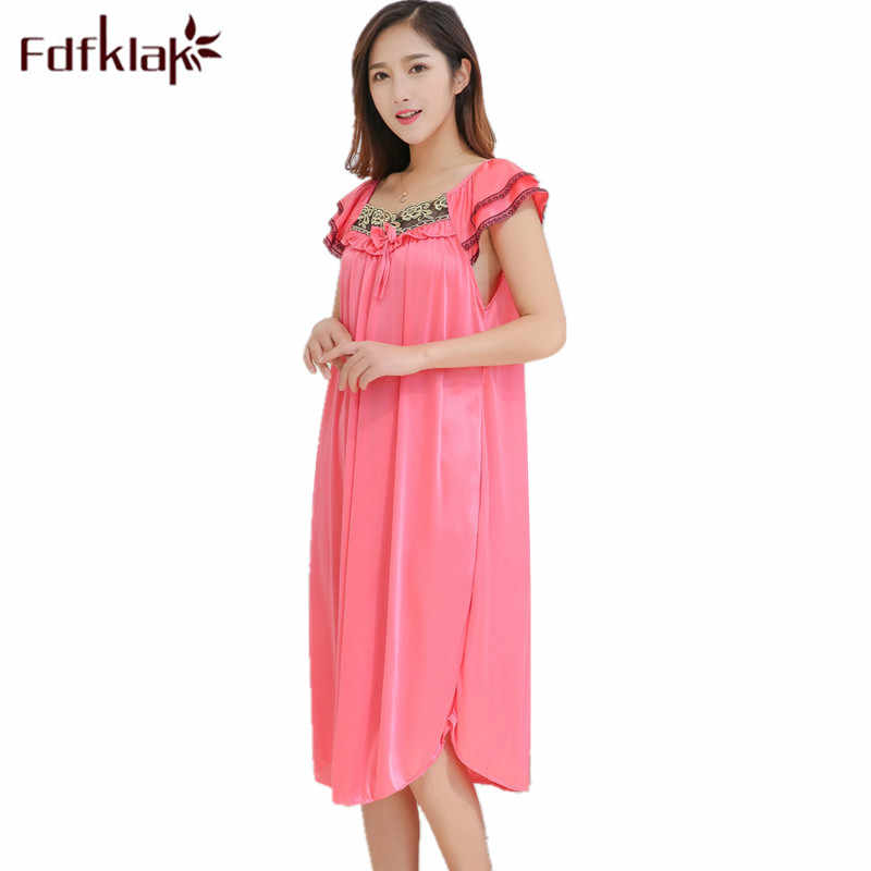 Fdfklak L XL XXL Plus Size Pregnancy Clothes Nightgown Pregnant Summer Sleeveess Mother For Pregnant Women Nursing Sleepwear F29