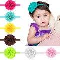 Flor de malla de Bebé Girls Venda Elástico Niños Head Accesorios Hairband Banda de Pelo Princesa 10 unids HYS04