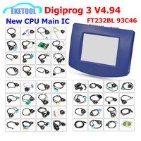DHL Free Digiprog 3 V4.94 Multi Language OBD Version&Full Sets FTDI Full Chip Original CPU Digiprog3 V4.94 Mileage Correction