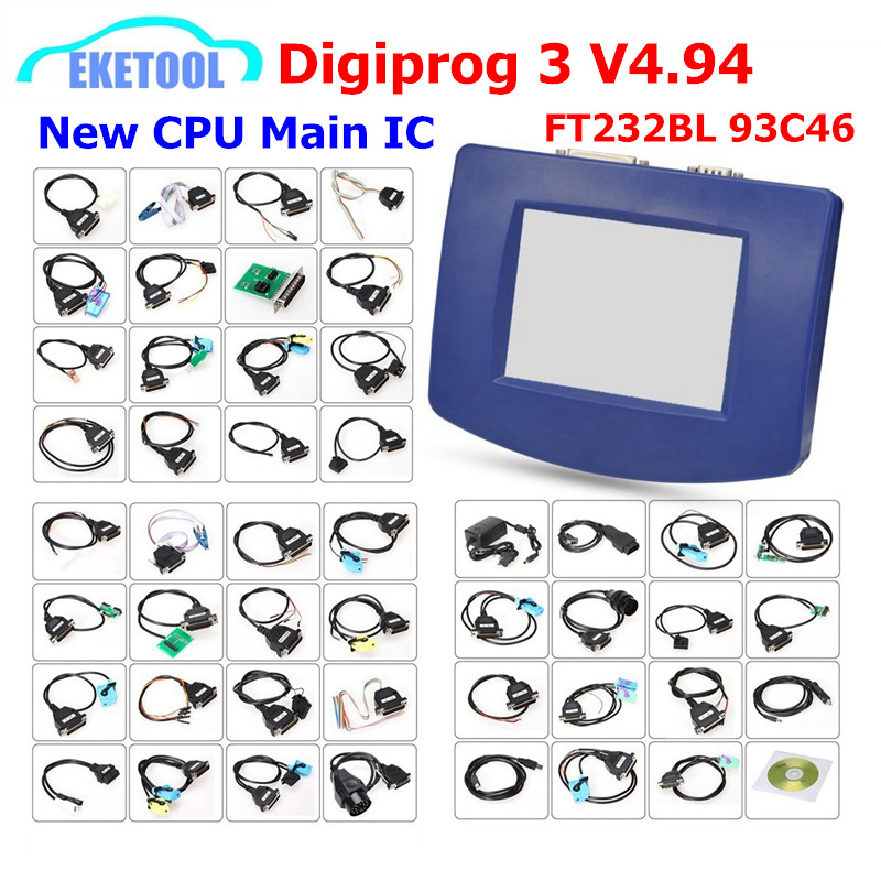 DHL Livre 3 V4.94 Multi-Língua Digiprog OBD Versão & Conjuntos Completos FTDI Chip Full Original CPU Digiprog3 V4.94 correção de quilometragem