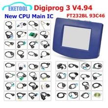 Dhl Libera Digiprog 3 V4.94 Multi Language Obd Versione & Set Completo Ftdi Pieno di Chip Della Cpu Originale Digiprog3 V4.94 correzione di Distanza in Miglia