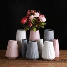 Классическая средиземноморская керамическая ваза, современная простая керамическая ваза, креативное украшение для дома