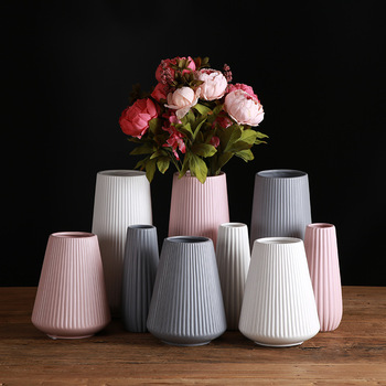 Classic Mediterranean Ceramic Vase Nordic Modern Simple Ceramic Vase Home Flower Inserter Creative Decoration 1