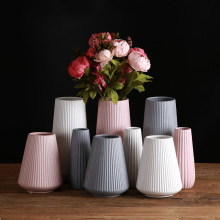 Classic Mediterranean Ceramic Vase Nordic Modern Simple Home Flower Inserter Creative Decoration