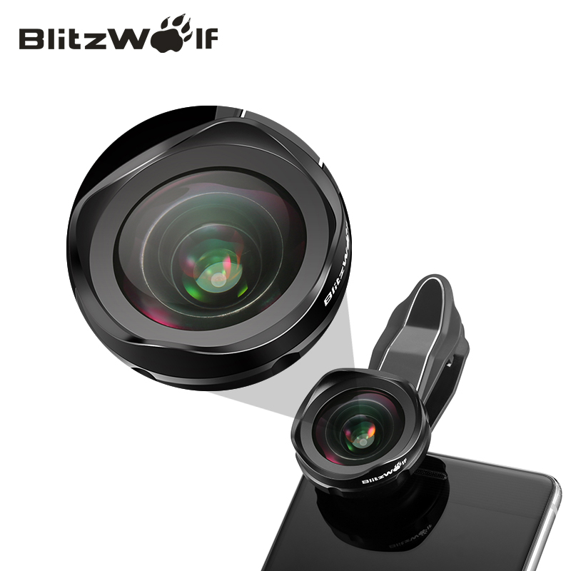 imágenes para BlitzWolf Móvil Teléfono con Cámara De Lente Óptico de la Lente 120 Grados Lente Gran Angular Kit Con el Clip Universal Para Android Para el iphone
