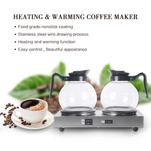 GZZT Electric 1 Boiler& 1 Warmer Coffee Maker Machine Stainless Steel Americano Coffee Pots Commercial Heating Warming Plate hl series desk top commercial water boiler machine milk warmer boiler for coffee bar shop 6 liters