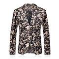 Envío Gratis 2015 Nuevos hombres de la Llegada Trajes de Ocio Blazers Masculinos 2015 Chaqueta de Moda Slim Fit Casual Suit Outwear Regalo para amante