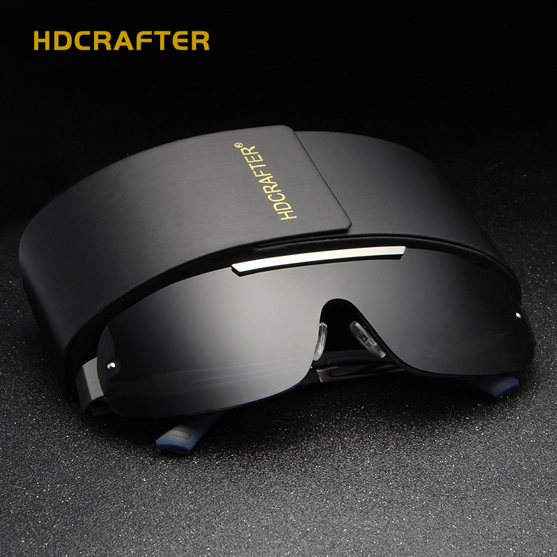 Hdcrafter polarizado óculos de sol dos homens 2018 vintage masculino marca designer visão noturna uv400 festival lunettes soleil