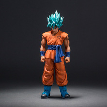 MSP Dragon Ball Z Super Saiyan Dieu Fils Goku Action Figure Bleu Cheveux Goku 25 CM DragonBall PVC Collection Modèle Jouet poupée