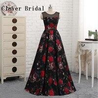 Floral Print Evening Dress Formal Party Gowns Floor Length Robe De Soiree Elegant Dresses Vestidos De