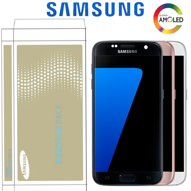 5.1'' Burn-shadow LCD With Frame For SAMSUNG Galaxy S7 Display G930 G930F Touch Screen Digitizer Replacement With Service Pack