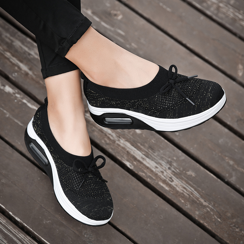 Sneakers 2019 New Women Flat Platform Shoes Woman Bowknot Loafers Women's Thick Bottom Casual Shoes Women Flats Plus Size 35-42 1