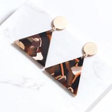 Fashion Jewelry Triangle Geometric Earrings For Women Leopard Tortoiseshell Bohemian Elegant Accessories Gifts