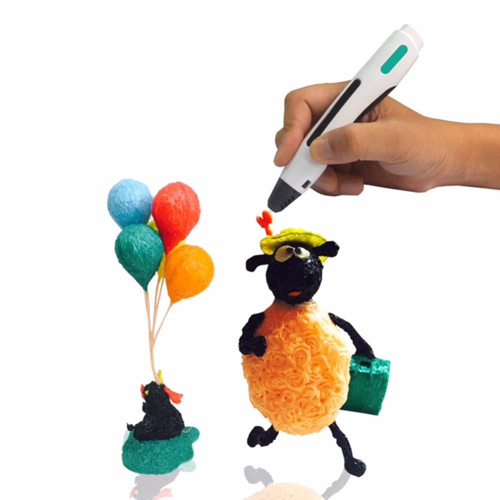 3D Printing Pens DIY 3D Printing Drawing Pen with ABS/PLA Filaments 1.75mm Toy Gift for Kids Electronic Printing Drawing magic 3d printer pen drawing 3d pen abs filaments 3d printing 3d pens for kids birthday present