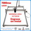 7000mW Mini desktop DIY Laser engraving engraver cutting machine Laser Etcher CNC print image of 50 X 65 cm logo