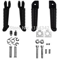 2 Pair Motorcycle Accessories Aluminum Front Rear Foot Peg Footrest For Yamaha YZF R1 02 11