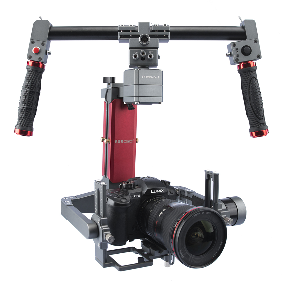 US $825 0 |ASXMOV Phoenix 4 5kg payload 3 axis Gimbal double handheld  gimbal stabilizer video stabilizer-in Handheld Gimbal from Consumer  Electronics