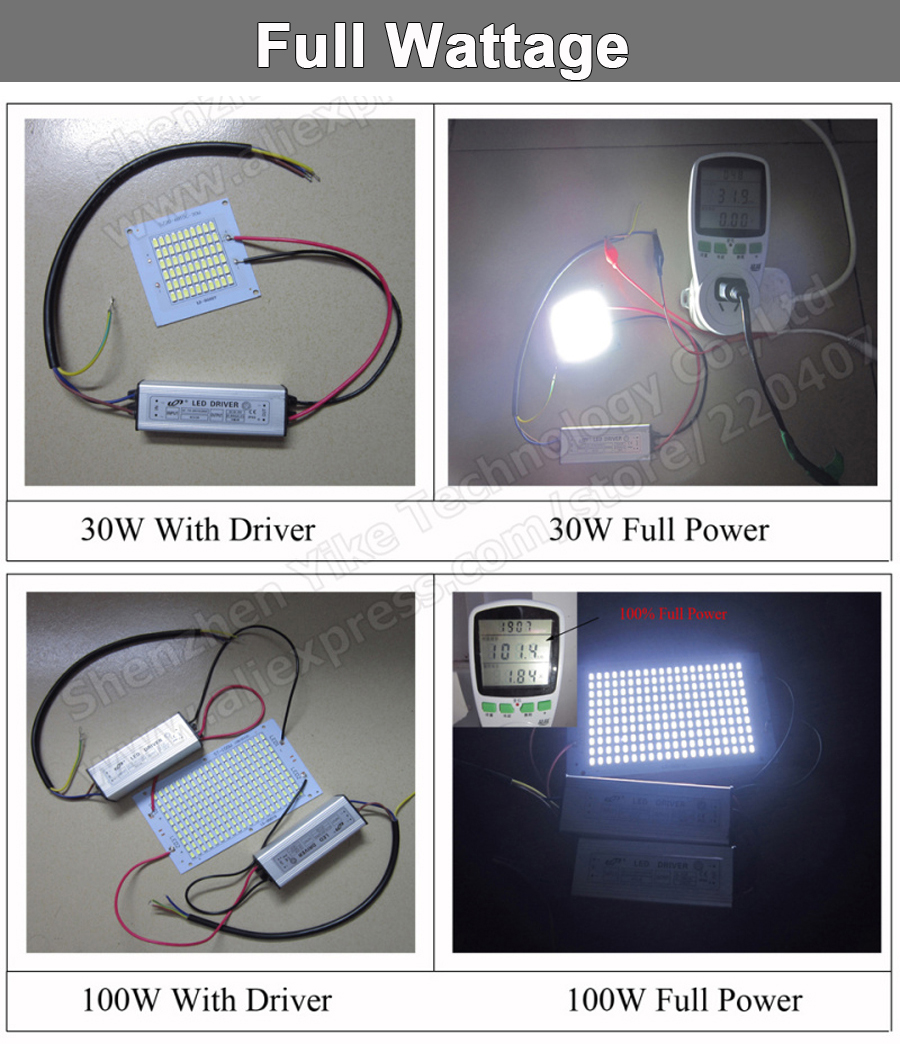 100% Full Power LED Holofote 200 W PCB SMD5730, 298x110mm led placa PCB, branco morno/branco iluminação sourcefor levou holofote - 6