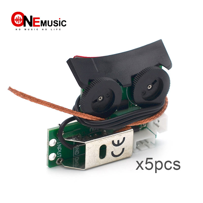 5pcs High Quality Sound Hole Undersaddle Guitar Equalizer Pickup with Onboard Preamp System for Acoustic Guitar