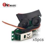 5 個の高品質なサウンドホールピックアップ Undersaddle ギターイコライザーピックアップオンボードプリアンプシステム