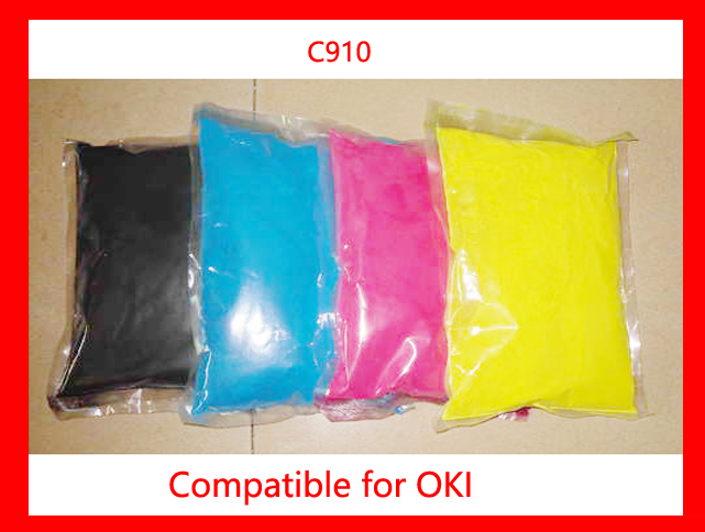 High quality color toner powder compatible for OKI C910 Free shipping 4 pack high quality toner cartridge for oki c5100 c5150 c5200 c5300 c5400 printer compatible 42804508 42804507 42804506 42804505