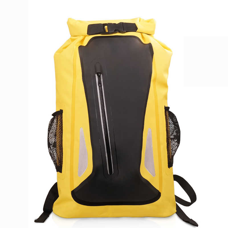 Baru Tahan Air Tas Kering Ransel untuk Kayak Berkano Project Terapung dari Kubus Apung HDPE Tracing Berlayar 500D PVC 25L Tugas Berat Arung Jeram Paket
